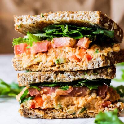 Tuna Hummus Sandwich