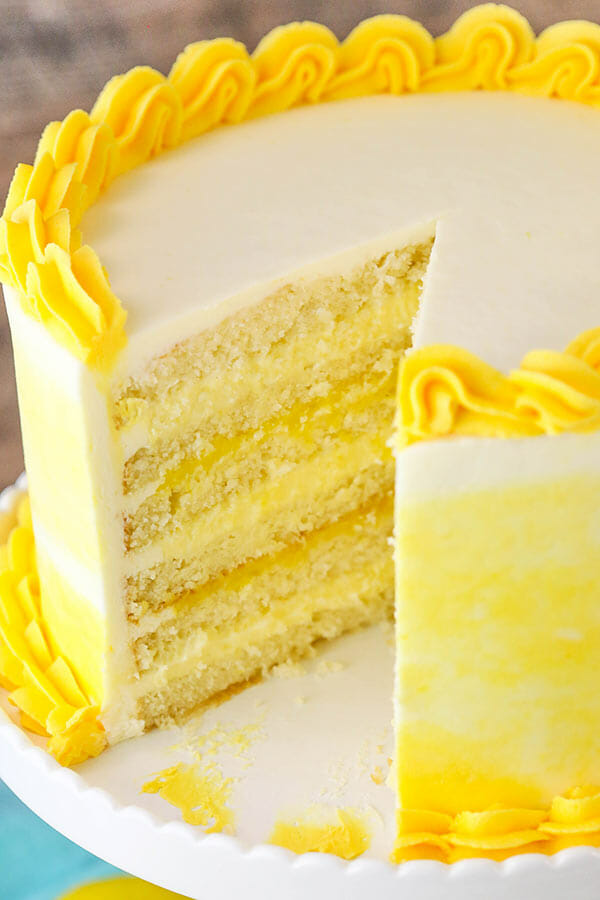 split lemon cake